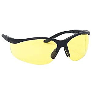 Ironwear Porter 3300 Series Nylon Protective Safety Glasses, Amber Lens, Black Frame (3300-B-A)