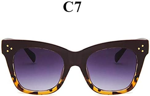 ZJIEJ Lunettes de Soleil Cat Eye Sunglasses Women Vintage Oversized Gradient Sun Glasses Shades Female Designer Uv400 Sunglass
