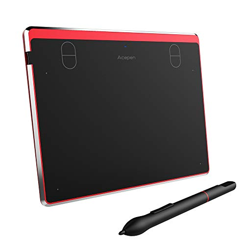 6x4 Inch Ultrathin Digital Graphic Drawing Tablet with Battery-Free Stylus for Windows and Mac (8192 Levels Pressure)