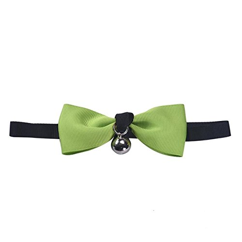1 Set Adjustable Bow Tie With Bell Cat Collar Dog Puppy Kitten Pet Necktie Soft Elastic Tag Flower Superlative Popular Small Wide Reflective Safety Breakaway Training Camo Dogs Collars, Type-02
