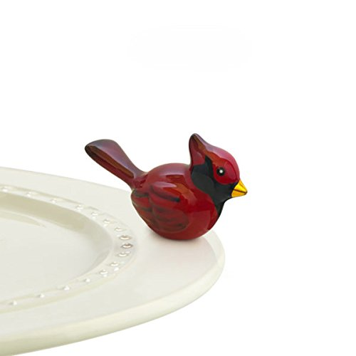 Nora Fleming Cardinal - Hand-Painted Ceramic Charm - A204