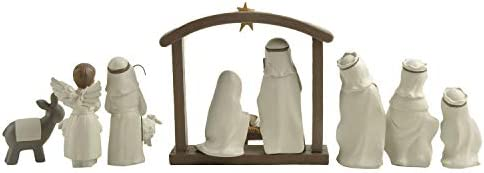 Nativity Set Small Figures Christmas scene 12 Pcs Manger