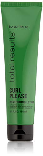 MATRIX Total Results Curl Please Curl Contouring Lotion Leave-In Treatment | Adds Body & Shine | For Wavy and Curly Hair | 5.1 Fl. Oz.