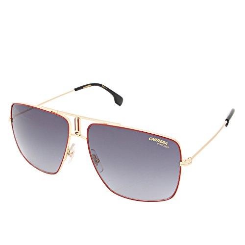 Carrera Mens 1006/S Sunglasses, Red Gold/Dark Gray Gradient, - Gold Frame Carrera Sunglasses