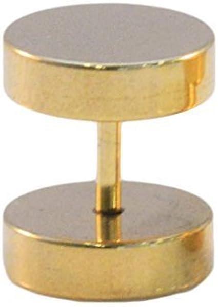 Dilatador de oreja falso atornillable, en acero 316 - Se vende por unidades - Dorado, A, Escoja el deseado, Acero Inoxidable 316