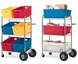 Charnstrom Three Shelf Mobile Bin Cart (B274)