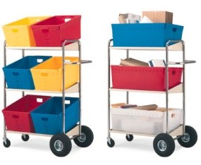 Charnstrom Three Shelf Mobile Bin Cart (B274) by Charnstrom
