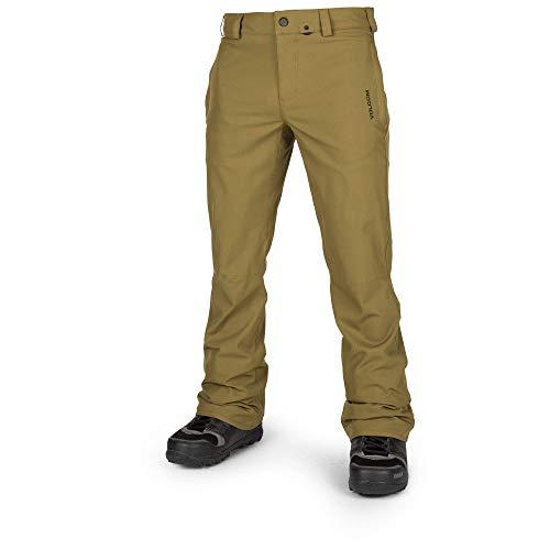 Volcom Men's Klocker Slim Form fit Snow Pant, Moss, Large - Volcom Tights