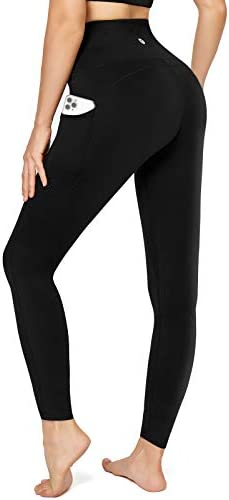 Letsfit High Waisted Leggings for Women, Yoga Pants with Pockets and Tummy Control for Workout Running Cycling Gym