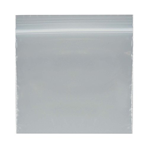 "SE ZB33 3"" x 3"" Self-Locking Bags, 2 Mil Thickness, 100-Pack"