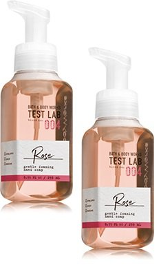 Bath and Body Works 2 Pack Test Lab Blend Nro. 004 Rose Gentle Foaming Hand Soap 8.75 Oz.