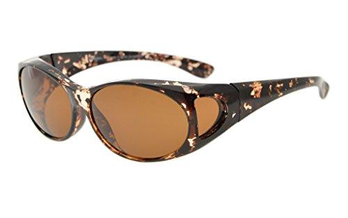Eyekepper Lunettes de soleil Polarisee pour lunettes de prescription blanc tortue