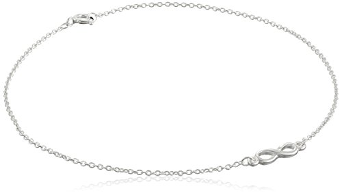 Sterling Silver Infinity Cable Chain Anklet, 10""