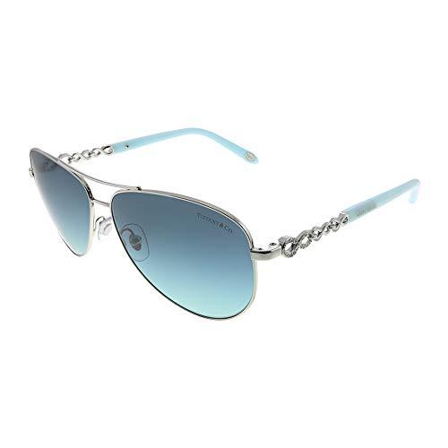 Tiffany TF3049B 6001-9S Silver TF3049B Pilot Sunglasses Lens Category 2 Size 58 (Authentic Tiffany & Co Jewelry)