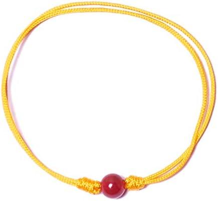 Bow, Pulsera Cornalina (Bola: 6mm) Hilo Especial Nylon Buena Energía, Meditación y Fertilidad