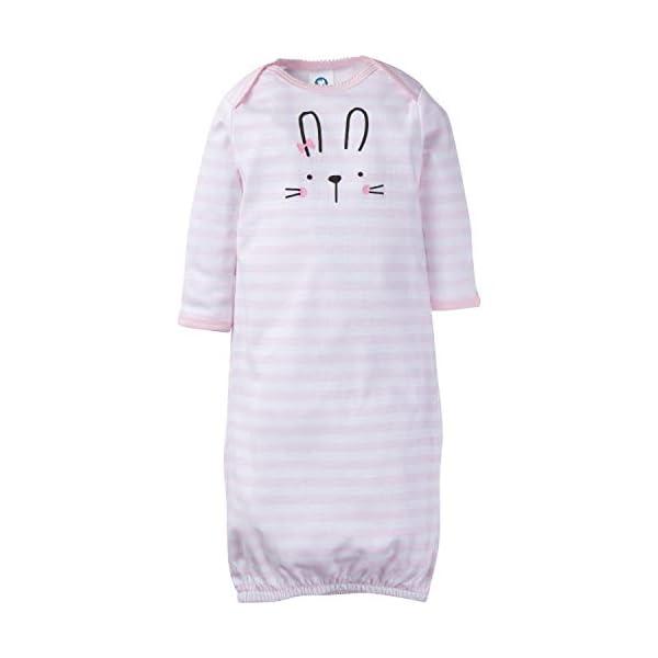 Gerber Baby 4-Pack Gown, Pink Bunny, Preemie