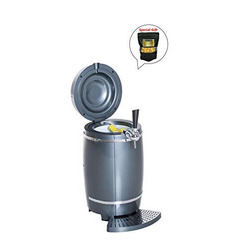Cooler Beer Draft Dispenser (10L Draft Beer Tower Dispenser Mini Keg Cooler Automotive Picnic W/LED Light GET SPECIAL GIFT Organic Silkworm Cocoon)