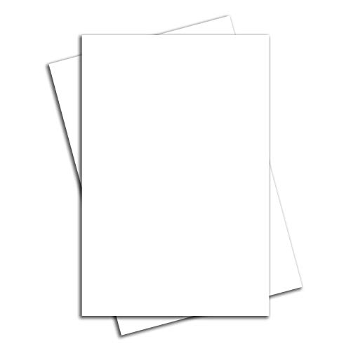 Vibe Ink Bundle of Large Blank White Yard or Lawn Sign Boards 24