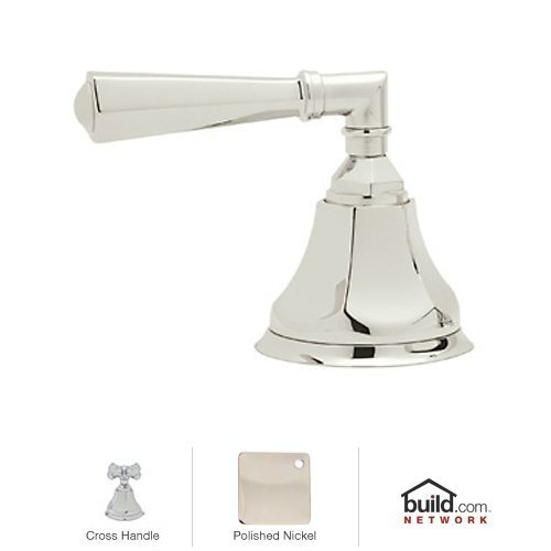Rohl A1917XMPN A1917Xm Palladian Deck Mounted 3-Port 2-Direction Diverter with Metal Cross, Polished (Palladian Palladian Deck)