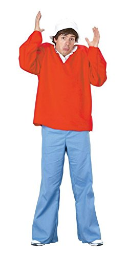 Gilligan's Island Gilligan Adult Costumes (Pony Express Mens Gilligan'S Island Gilligan Red Theme Party Fancy Costume, One Size (up to 44))