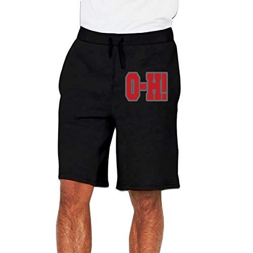 - Men Ohio State O-Hï¼ Short Pants Sweatpants with Drawstring L Black