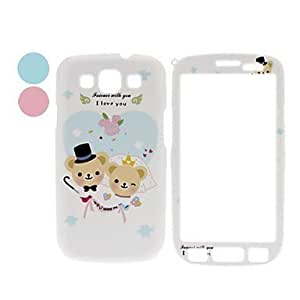 Cartoon Bear Pattern Front and Back Full Body Case for Samsung Galaxy S3 I9300 (Assorted Colors) , Blue