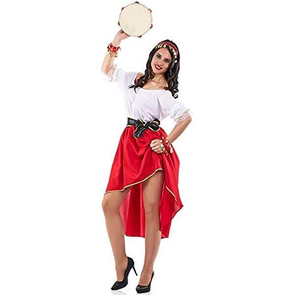 El Rey del Carnaval Disfraz de Zíngara para Mujer: Amazon.es ...