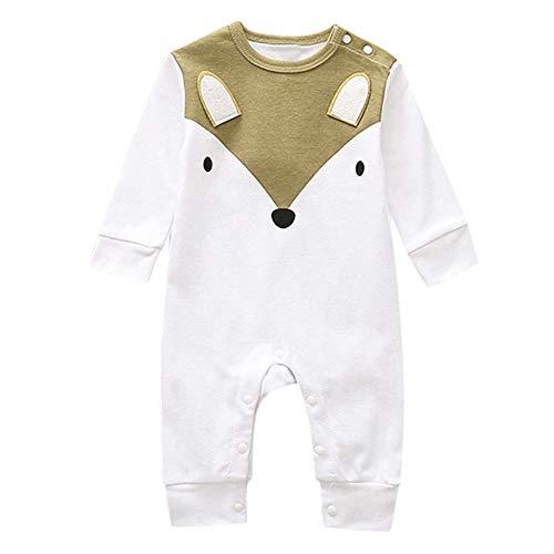 baohooya Rompertje voor pasgeborenen, meisjes en jongens, 6-18 maanden, uniseks, van katoen, pyjama, lange mouwen, comic…