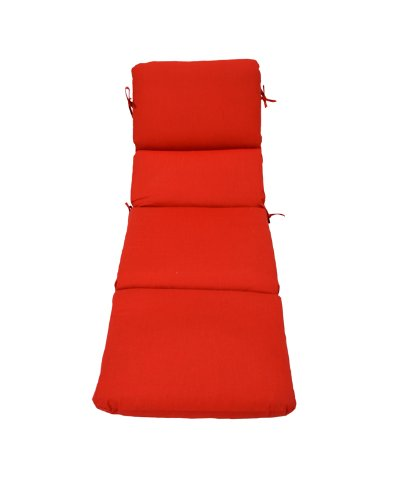 Sunbrella 74 x 22 Chaise cushion in Spectrum Crimson (Multiple Colors Available)