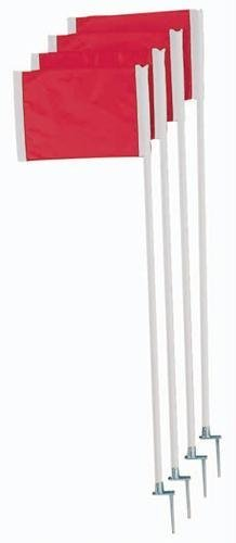Official Corner Soccer Flags - Set of 4 without Springs [Misc.] by Olympia Sports