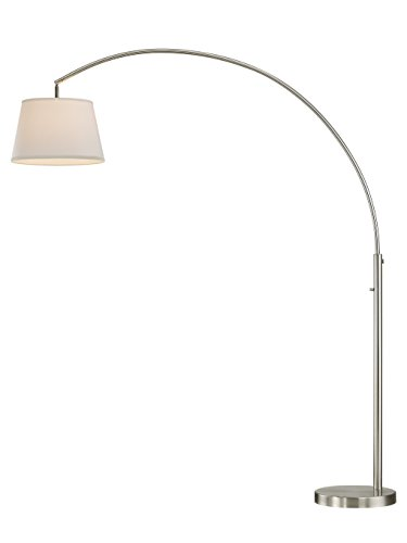 Artiva USA LED602111FSN Allegra LED Arch Floor Lamp with Dimmer, 48 L x 16W x 79 H, Brushed Nickel by Artiva USA