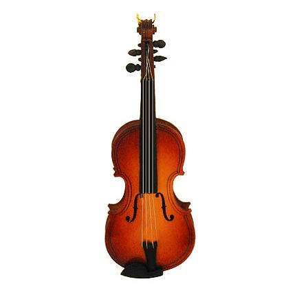 Steel String Miniature Violin Hanging Holiday
