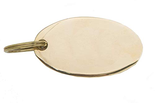 Jefferson Brass Engravable Brass Key Ring and Luggage Tag