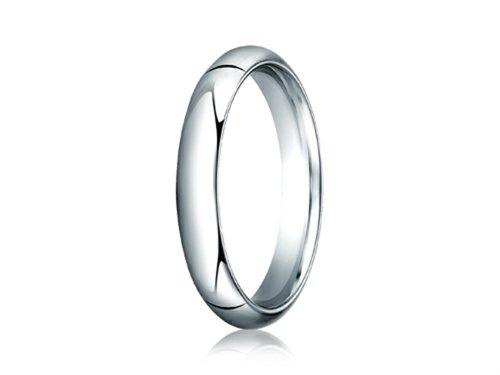 Benchmark 14k Gold 4.0mm Slightly Domed Super Light Comfort-fit Wedding Band / Ring Size 7.5 ()
