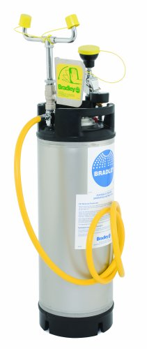 Bradley S19-672 5 Gallon Safety Portable Pressurized Eye/Face Wash Unit with Drench Hose, 8-1/2'' Width x 35-5/8'' Height by Bradley
