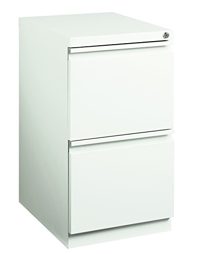Pro Series Two Drawer Mobile Pedestal File Cabinet, White, 20 inches deep (22290)