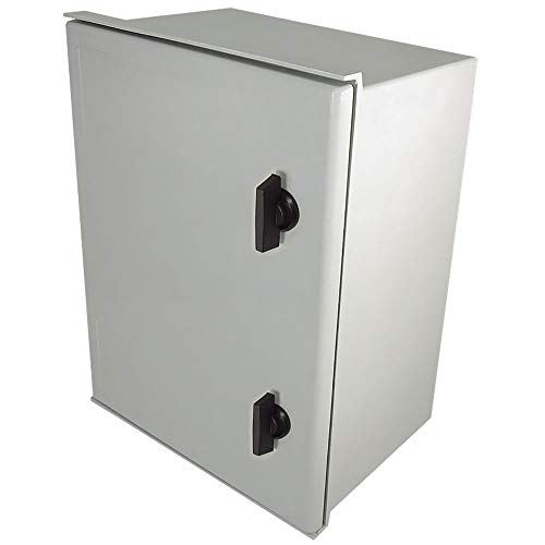 Altelix 16x12x8 FRP Fiberglass NEMA 3X Box Weatherproof Enclosure with Hinged Lid & Quarter-Turn Latches
