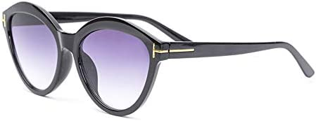 ZJIEJ Lunettes de Soleil Cat Eye Plastic Sunglasses Women Design Gradient Sun Glasses for Female Mirror Shades Uv400