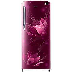 Samsung 192 L 3 Star Inverter Direct-Cool Single Door Refrigerator (RR20T272YR8/NL, Saffron Red)