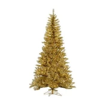 Amazon.com: Vickerman Pre-Lit Antique Gold Artificial Tinsel ...