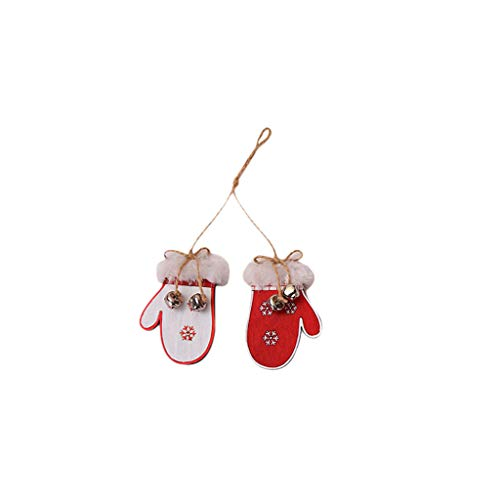 Hohaski Christmas Glove ski boots Wooden Pendants Xmas Tree Ornaments Home Hanging Decor, Christmas Ornaments Advent Calendar Pillow Covers Garland Tree Skirt Gift Bags DIY from Hohaski
