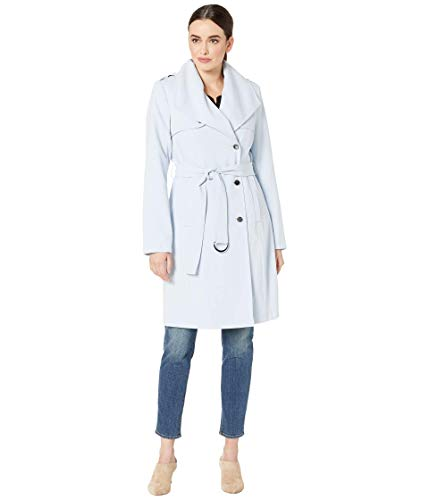 Calvin Klein Double Wave Draped Belted Coat Powder Blue MD (US 10)
