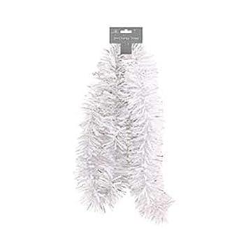 Farbige Girlande Weihnachtsbaum Ornamente Wei/ß Dunkelgr/ün Cane Lametta Party Bar XIYAO/Weihnachtsdekoration/2 Meter