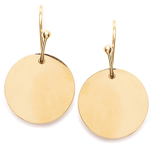 Circle Earrings in Gold Color | Delicate Earrings Circular Disc Minimalist Design