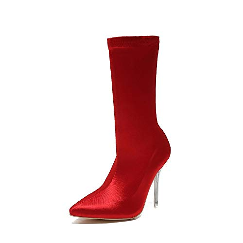08bd5355012 Mackin J 260-7 Women s Mid-Calf Satin High Heel Dress Bootie