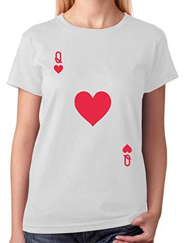 Tstars - Queen of Hearts Playing Card Easy Halloween Costume Women T-Shirt Medium -