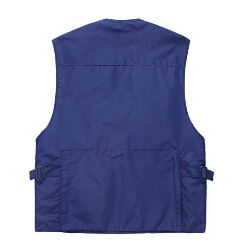 Autunno Capispalla Tasche Multi Essenziale Senza Da Blau Primavera Gilet Esterno Emmay Maniche Uomo In Maglia Donna zxq6w0pI