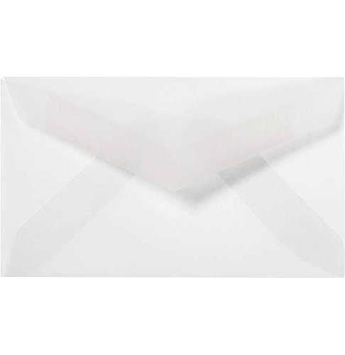 #3 Mini Envelopes (2 1/8 x 3 5/8) - Clear Translucent (250 Qty.) Envelopes.com 30551