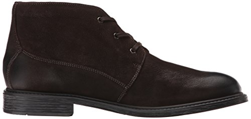 Mens Bostonian Wakeman Stivale Top Chukka In Pelle Marrone Scuro