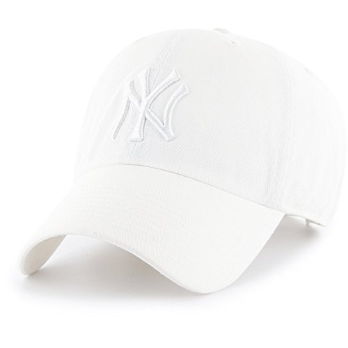 '47 Brand New York Yankees Clean up MLB Dad Hat Cap White/Wh